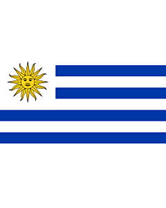Bandera: Uruguay |  bandera paisaje | 2.4m² | 120x200cm