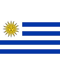Bandera: Uruguay |  bandera paisaje | 3.375m² | 150x225cm