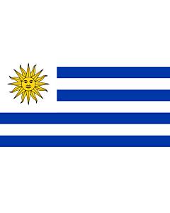 Bandera: Uruguay |  bandera paisaje | 3.75m² | 150x250cm