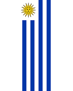 Vertical Hanging Beam Flag: Uruguay |  portrait flag | 3.5m² | 38sqft | 300x120cm | 10x4ft
