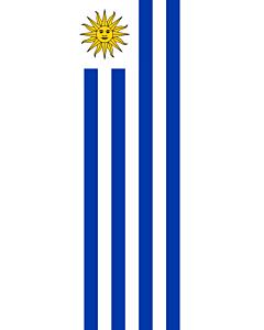 Banner-Flagge:  Uruguay  |  Hochformat Fahne | 6m² | 400x150cm