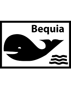 Flag: Unofficial flag of Bequia island/St |  landscape flag | 0.06m² | 0.65sqft | 20x30cm | 8x12in