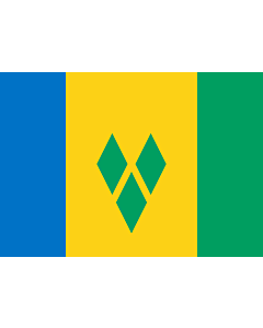 Flag: Saint Vincent and the Grenadines |  landscape flag | 0.7m² | 7.5sqft | 70x100cm | 2x3ft