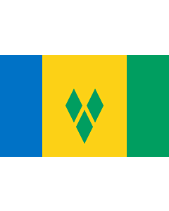 Flag: Saint Vincent and the Grenadines |  landscape flag | 3.75m² | 40sqft | 150x250cm | 5x8ft