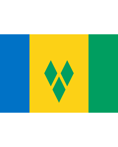 Flag: Saint Vincent and the Grenadines |  landscape flag | 6m² | 64sqft | 200x300cm | 6x10ft