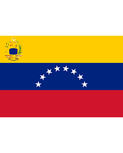 Flag: Venezuela |  landscape flag | 3.75m² | 40sqft | 150x250cm | 5x8ft