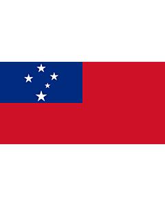 Drapeau: Samoa |  drapeau paysage | 3.75m² | 150x250cm