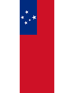 Vertical Hanging Beam Flag: Samoa |  portrait flag | 6m² | 64sqft | 400x150cm | 13x5ft