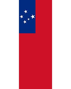 Banner-Flagge:  Samoa  |  Hochformat Fahne | 6m² | 400x150cm