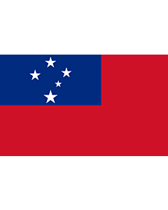 Table-Flag / Desk-Flag: Samoa 15x25cm