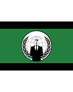 Bandera: Anonymous | De facto flag for the Anonymous group | Principal drapeau/logo du groupe Anonymous | Facto de Anonymous | Anonymous-Gruppe | Dell organizzazione Anonymous |  bandera paisaje | 1.35m² | 90x150cm