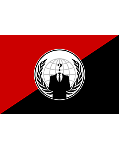 Bandera: Anonymous Anarchist | Alternative flag for the Anonymous group | Alternativa del grupo Anonymous |  bandera paisaje | 1.35m² | 90x150cm