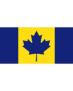 Bandera: Canada recolour | The maize and blue Michigan Wolverines colored Flag of Canada used to cheer on Stauskas |  bandera paisaje | 1.35m² | 80x160cm