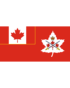 Bandera: Canadian Army | Canadian Army, adopted in 14 July 2016 |  bandera paisaje | 1.35m² | 80x160cm