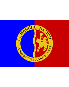 Flag: Comanche Nation |  landscape flag | 1.35m² | 14.5sqft | 90x150cm | 3x5ft