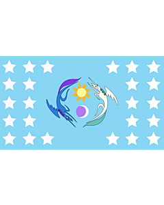 Flag: Equestria |  landscape flag | 1.35m² | 14.5sqft | 90x150cm | 3x5ft