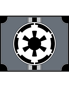 Flag: Galactic Empire  Star Wars |  landscape flag | 1.35m² | 14.5sqft | 100x130cm | 40x50inch