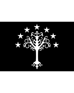 Flag: Gondor s flag from J. R. R. Tolkien s Middle-earth |  landscape flag | 1.35m² | 14.5sqft | 90x150cm | 3x5ft