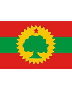 Flag: Oromo Liberation Front  OLF |  landscape flag | 1.35qm | 14.5sqft | 90x150cm | 3x5ft