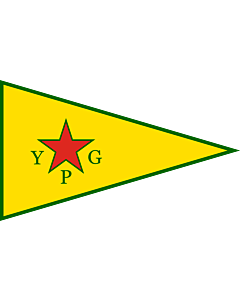 Bandera: People s Protection Units | People s Protection Units  YPG ; official armed wing of the Kurdish Supreme Committee |  bandera paisaje | 1.35m² | 90x150cm