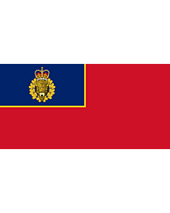 Flag: Corps Ensign of the Royal Canadian Mounted Police |  landscape flag | 1.35m² | 14.5sqft | 80x160cm | 30x60inch