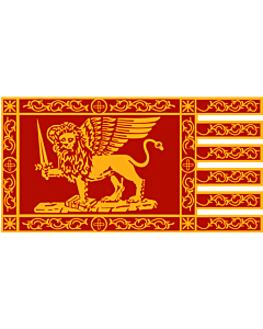 Flag: Most Serene Republic of Venice |  landscape flag | 1.35m² | 14.5sqft | 85x160cm | 33x65inch