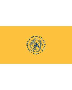 Flag: United States Public Health Service  USPHS |  landscape flag | 1.35m² | 14.5sqft | 85x160cm | 33x60inch