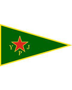 Bandera: YPJ | Women s Protection Units  YPJ ; female brigade of the official armed wing of the Kurdish Supreme Committee |  bandera paisaje | 1.35m² | 90x150cm