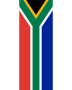 Vertical Hanging Beam Flag: South Africa |  portrait flag | 6m² | 64sqft | 400x150cm | 13x5ft