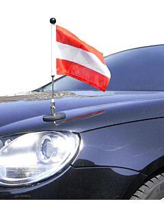 magnetisch haftender Autofahnen-Ständer Diplomat-1.30 Österreich