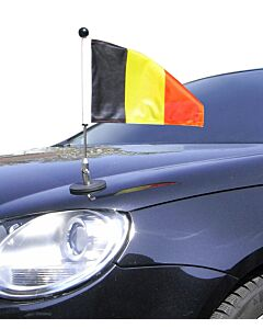 magnetisch haftender Autofahnen-Ständer Diplomat-1 Belgien