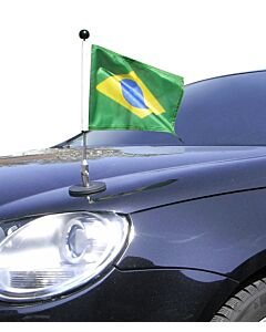 Magnetic Car Flag Pole Diplomat-1 Brazil