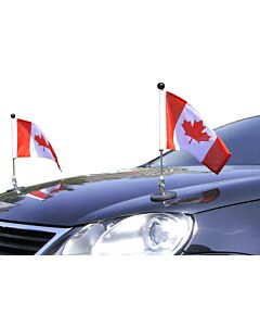 Pair  Magnetic Car Flag Pole Diplomat-1 Canada