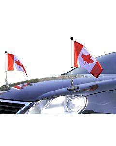 Par  Soporte de bandera para coches con sujeción magnética Diplomat-1 Canadá