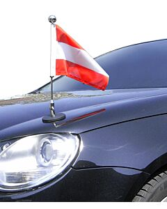 Magnetic Car Flag Pole Diplomat-1-Chrome Austria