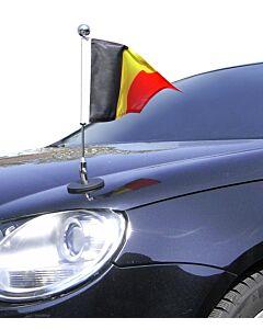 magnetisch haftender Autofahnen-Ständer Diplomat-1.30-Chrome Belgien