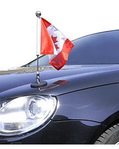 Magnetic Car Flag Pole Diplomat-1.30-Chrome Canada