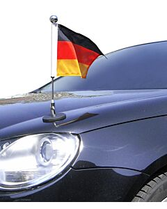Magnetic Car Flag Pole Diplomat-1-Chrome Germany