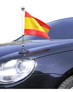 Magnetic Car Flag Pole Diplomat-1.30-Chrome Spain