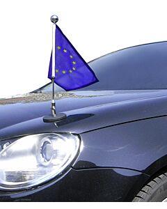 Magnetic Car Flag Pole Diplomat-1.30-Chrome Europe (EU)
