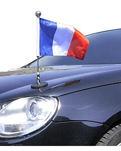 Magnetic Car Flag Pole Diplomat-1.30-Chrome France