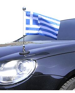 Magnetic Car Flag Pole Diplomat-1.30-Chrome Greece