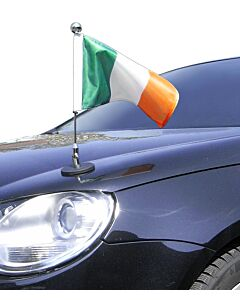 Magnetic Car Flag Pole Diplomat-1.30-Chrome Ireland