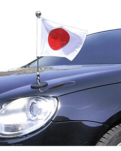 Magnetic Car Flag Pole Diplomat-1.30-Chrome Japan