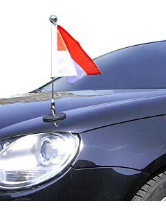 Magnetic Car Flag Pole Diplomat-1.30-Chrome Monaco
