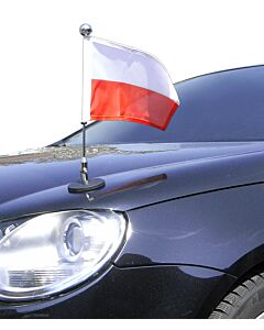 Magnetic Car Flag Pole Diplomat-1.30-Chrome Poland