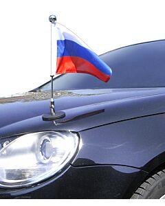 magnetisch haftender Autofahnen-Ständer Diplomat-1-Chrome Russland