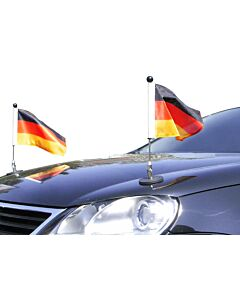 Pair  Magnetic Car Flag Pole Diplomat-1 Germany