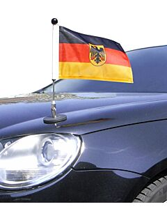 Magnetic Car Flag Pole Diplomat-1.30 Germany with coat of arms