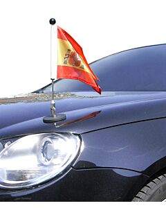 Magnetic Car Flag Pole Diplomat-1 Spain with coat of arms